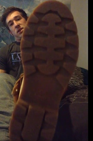 Danny is a Mean Foot God in Timberlands