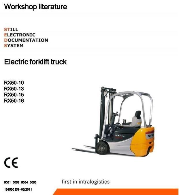 Still Forklift Truck RX50-10, RX50-13, RX50-15, RX50-16: 5051, 5053, 5054, 5055 Service Manual