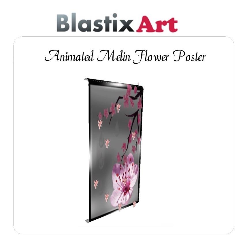 Animated  Melin Flower  Poster