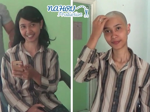 "BALD#002 ""Shy Woman Gets Extreme Haircuts and Shaved by Her Husband"""