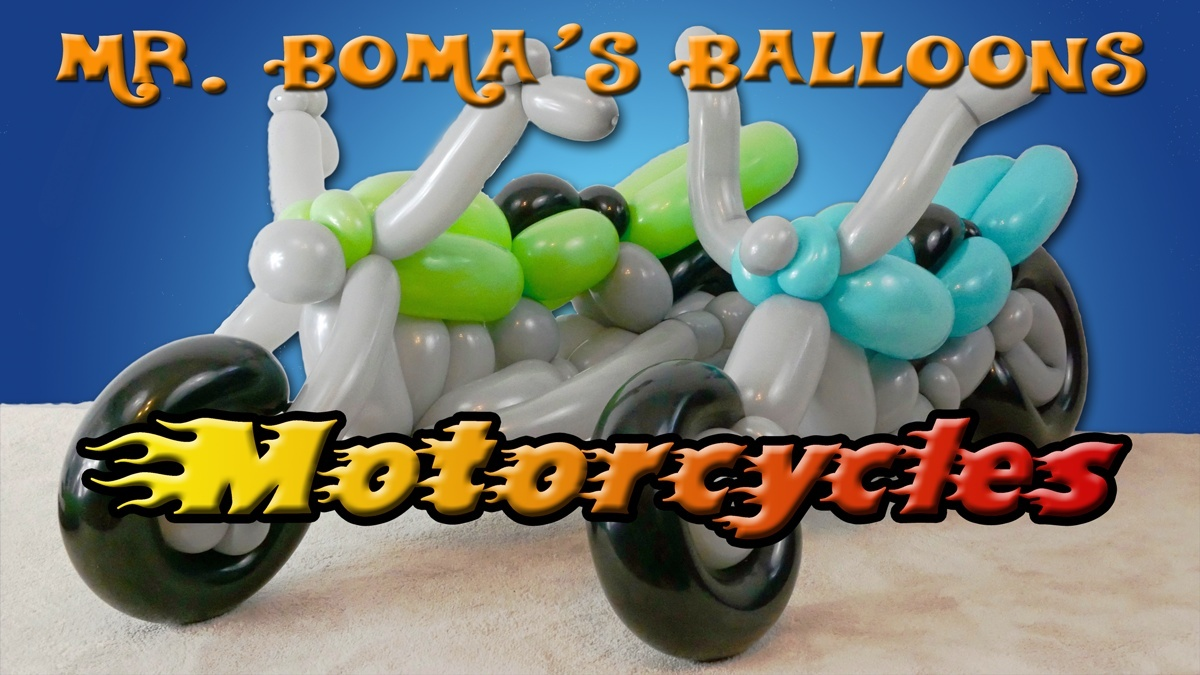 Motorcycles Balloon Tutorials