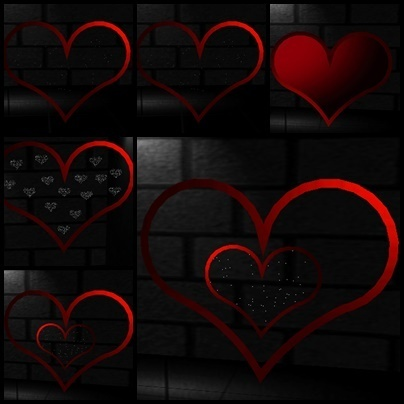 Wall Collection of  Glitter  Heart