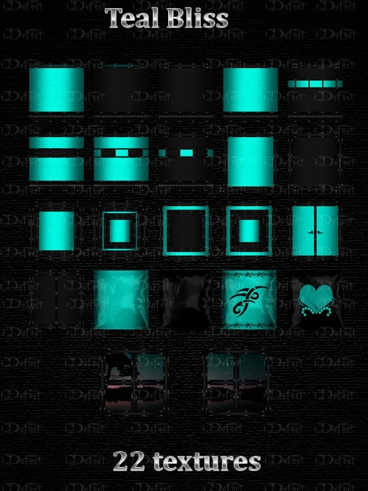 Teal Bliss Textures Catty Only!!!