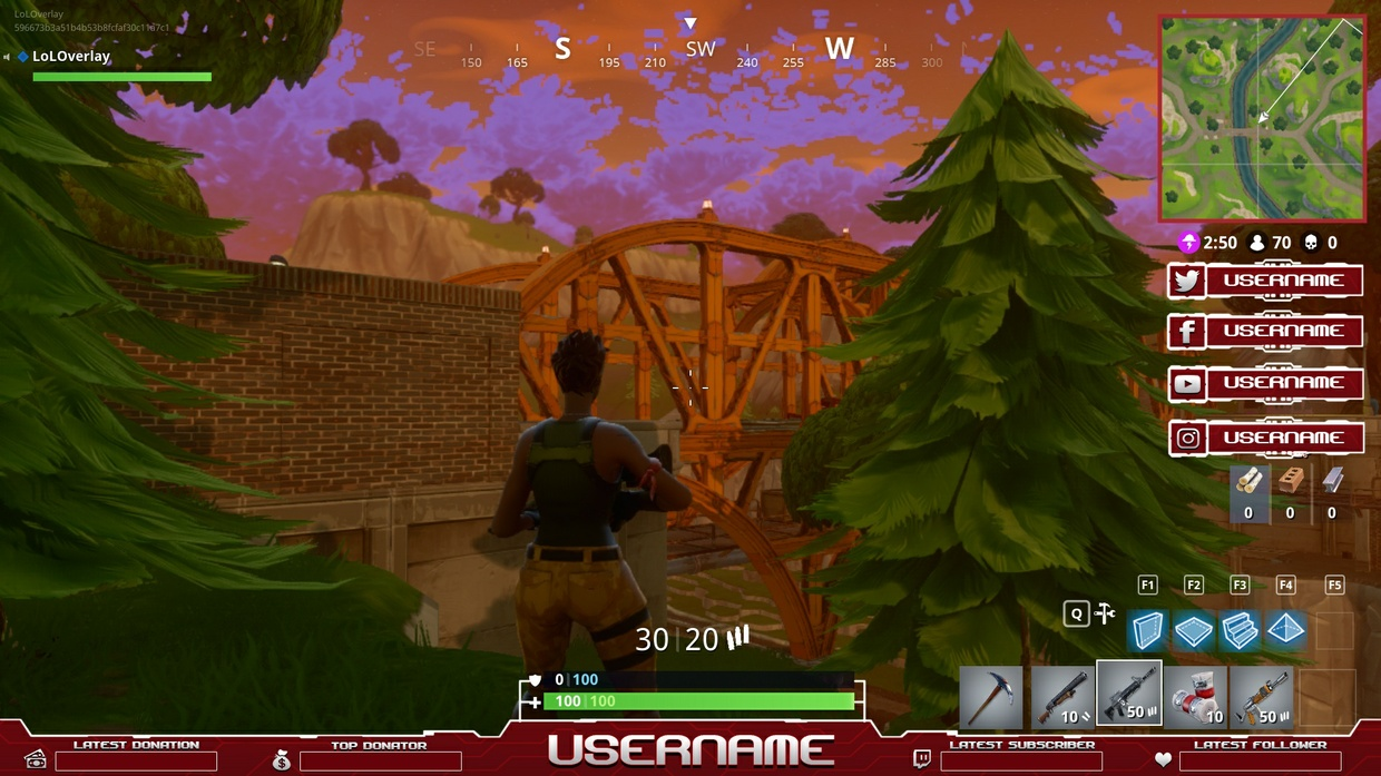 FORTNITE OVERLAY  [10 PNG + 1 PSD]