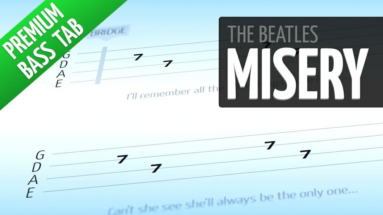 Misery (Premium Bass Tab)