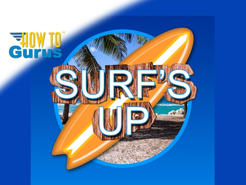 How to Make a Surf's Up Party Invitation in Photoshop CS5 CS6 CC Tutorial