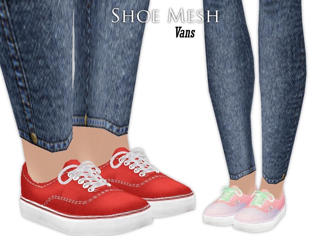 IMVU Mesh - Shoes - Vans (w. laces)