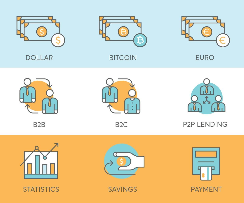 78 Fintech & Finance Icons