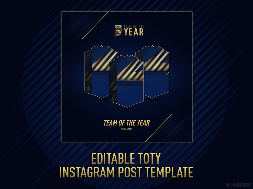 FIFA18 Editable TOTY Instagram Post Template