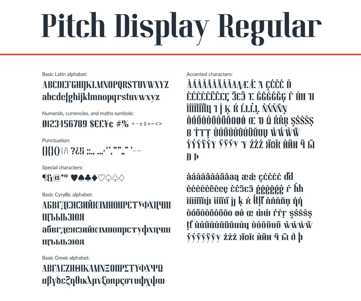 Pitch Display Font