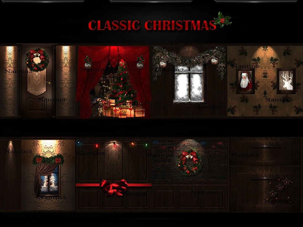 CLASSIC CHRISTMAS ..!!  58Textures 256x256jpg.