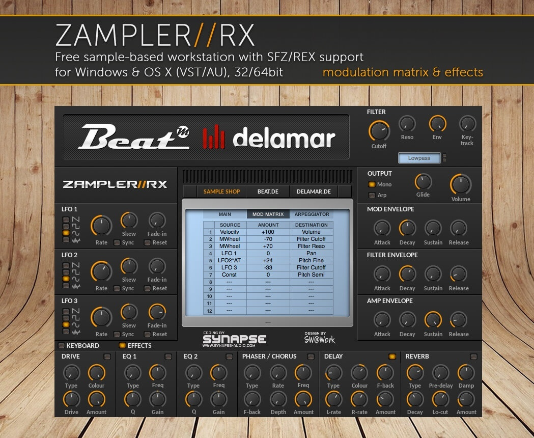 VENOM – sound bank for Zampler//RX workstation (Win/OSX plugin included)