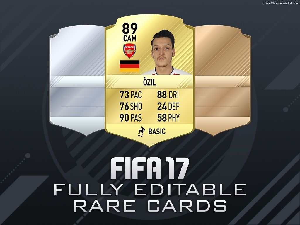 FIFA 17 Fully Editable Rare Cards