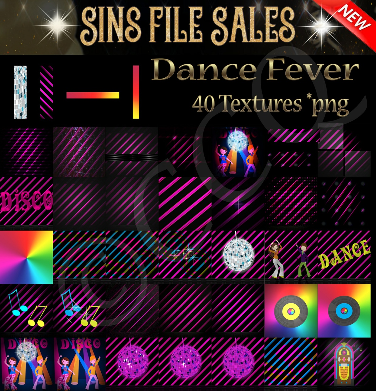 Dance Fever ( 40 Png)