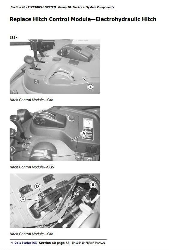 John Deere 5075M, 5085M, 5100M, 5100MH, 5100ML, 5115M, 5115ML Technical Repair Manual (TM116419)