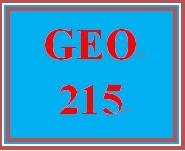 GEO 215 Week 3 Urbanization Analysis, Green Options & Global Warming Strategies Part 1