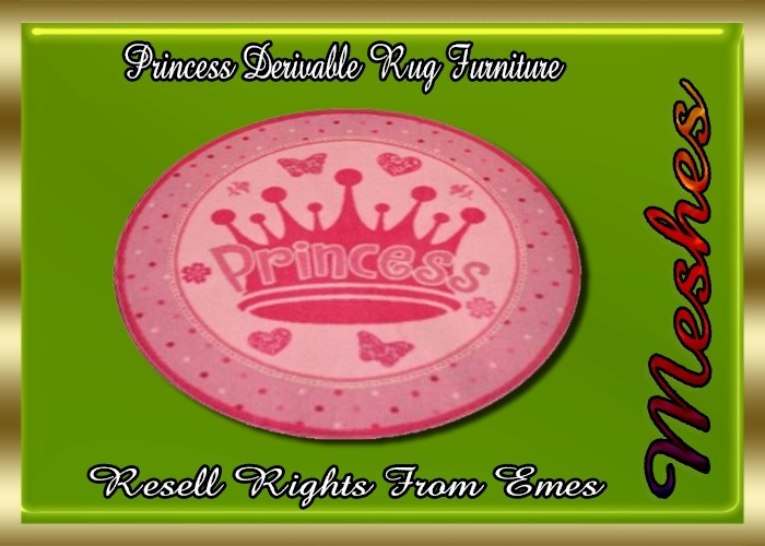 Princess Derivable Rug Furniture Catty Only!!!