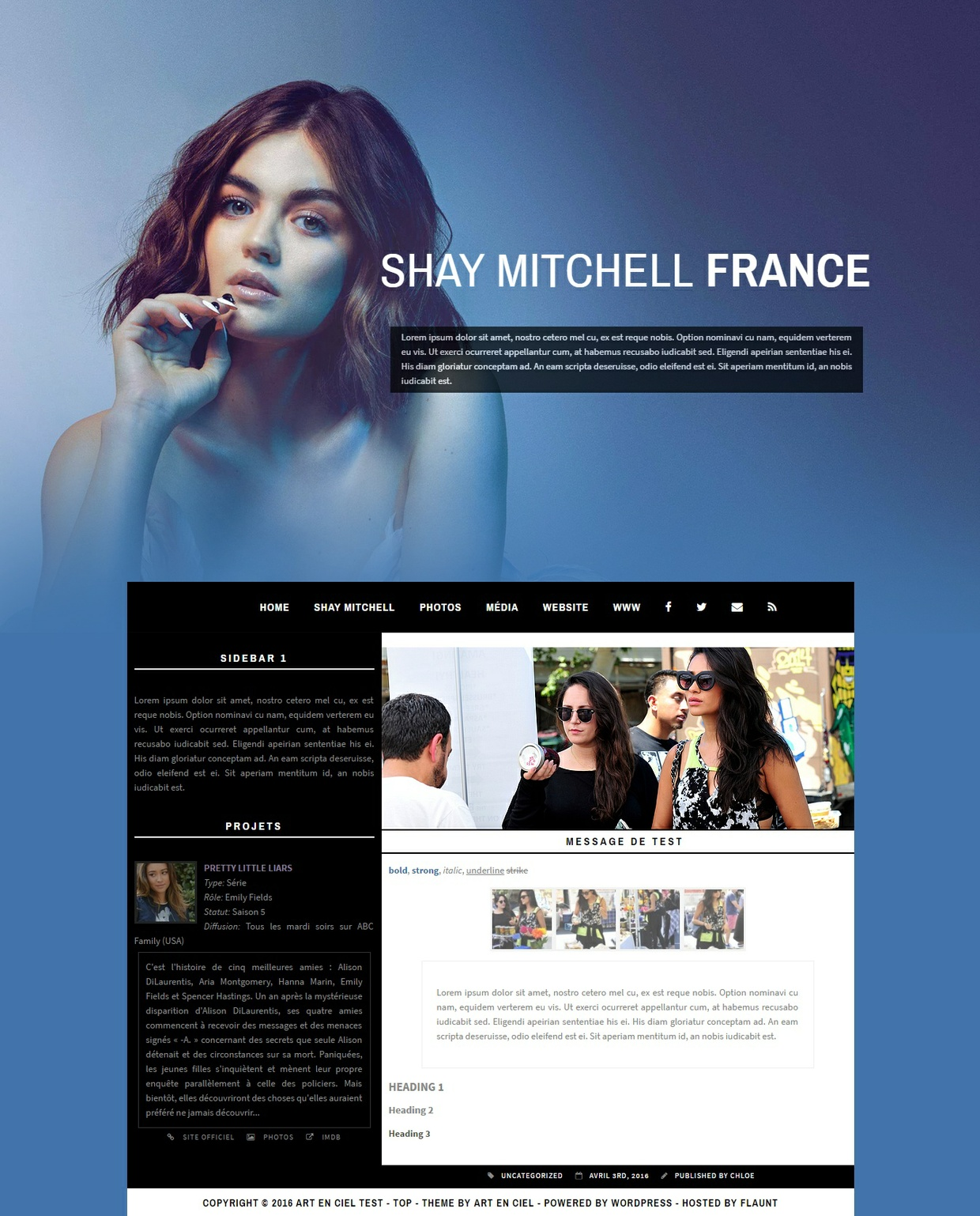 Wordpress Theme #02
