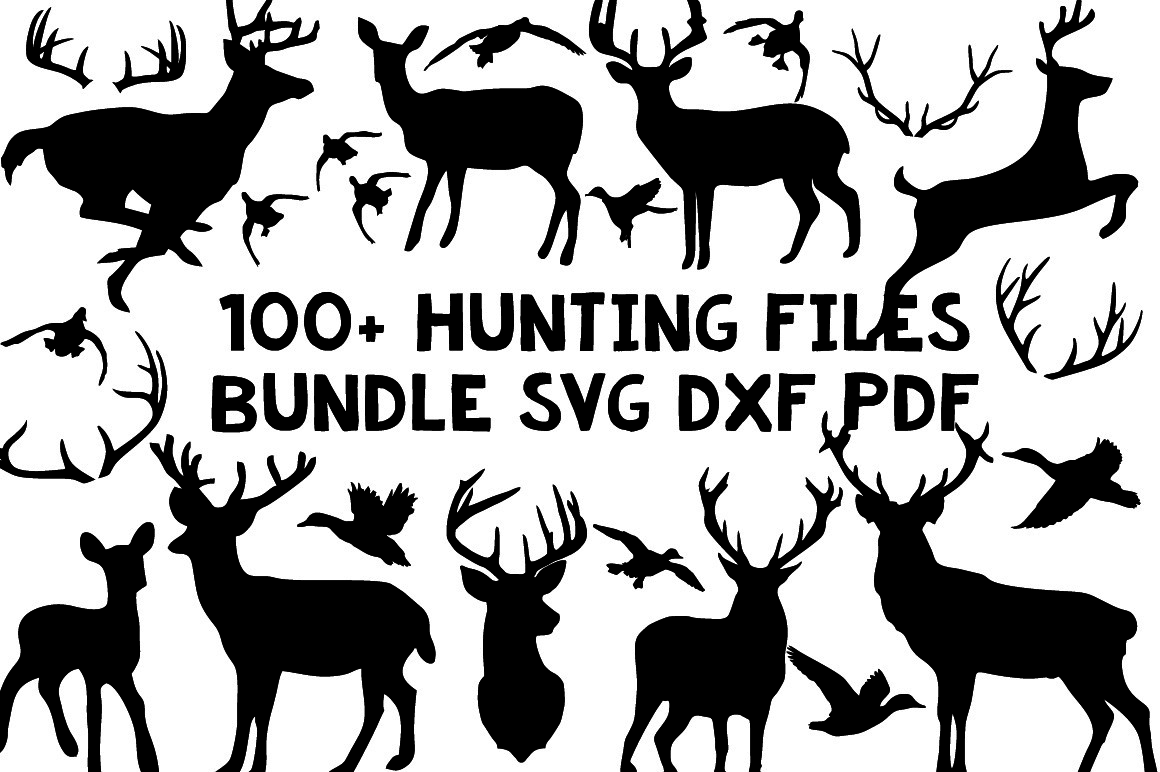 100+ hunting files bundle svg dxf clip art silhouette cameo cricut