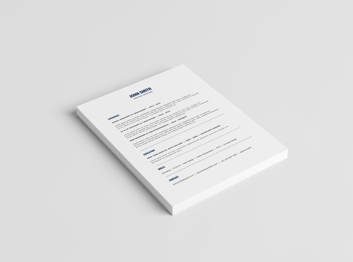 Minimalist Resume Template + Cover Letter Template | 2016 Resume Template |  MS Word ...  Minimalist Resume Template
