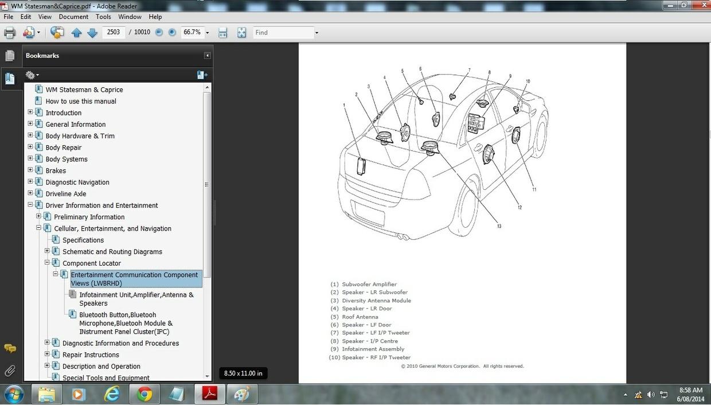 holden wm statesman  caprice workshop manual LS3 Holden Commodore Holden SSV