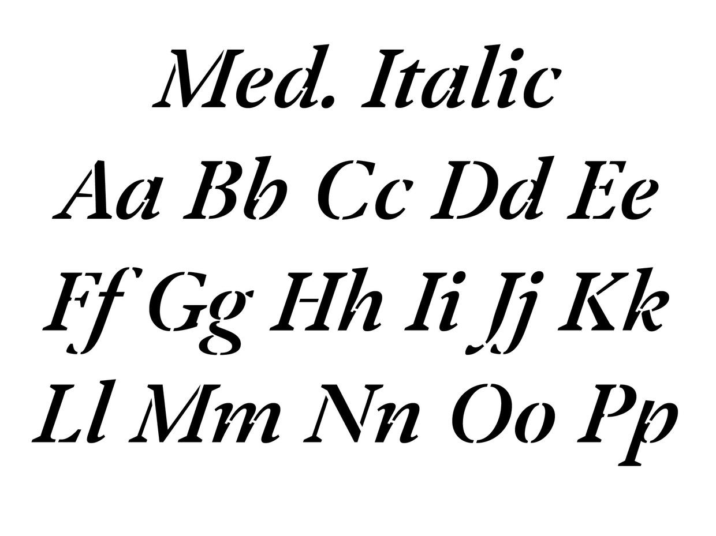 Klod AM Medium Italic