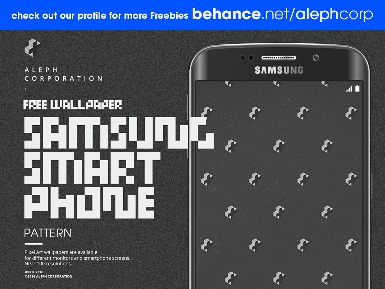 Free Samsung Smartphone Wallpapers - Pixel Art by aleph corporation