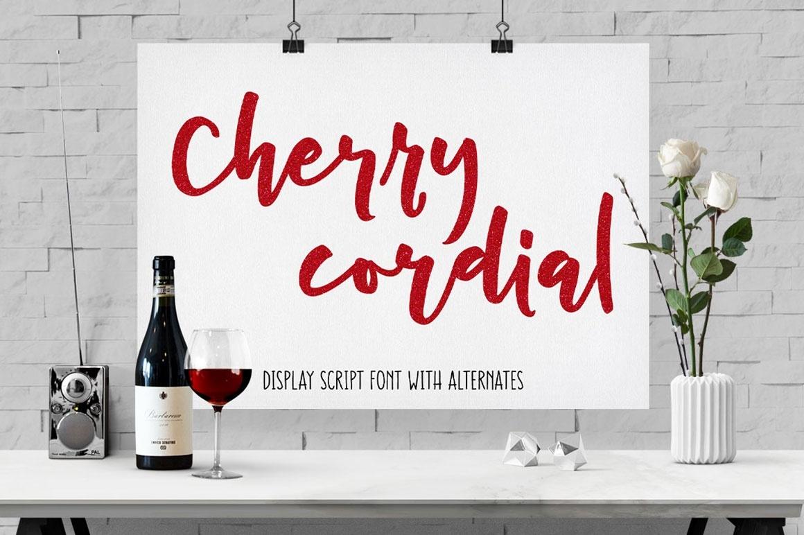 Cherry Cordial: script display font!