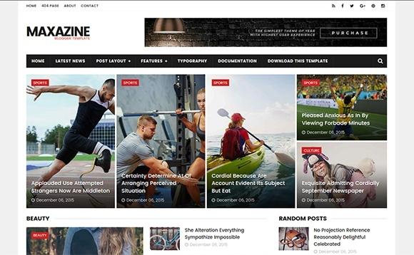 MaxaZine Blogger Template Premium Version
