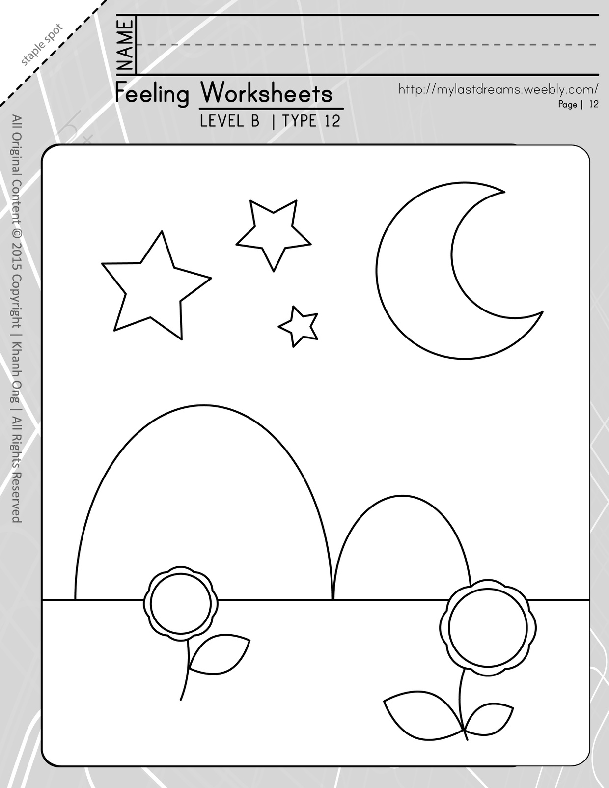 MLD - Basic Feeling Worksheets - Part 2 - Letter Sized