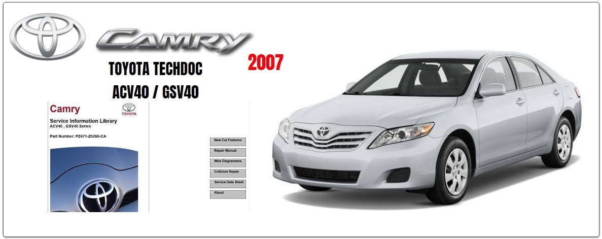 TOYOTA CAMRY 2007 GSIC WORKSHOP MANUAL