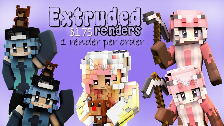 Extruded Renders