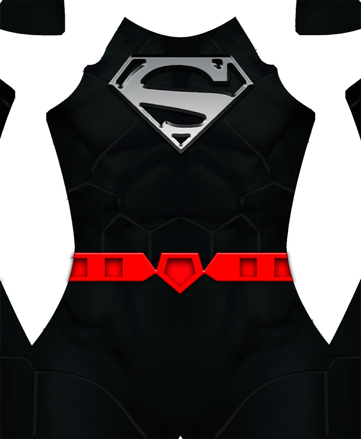 New 52 Superman (BLACK) Dye-Sub Pattern