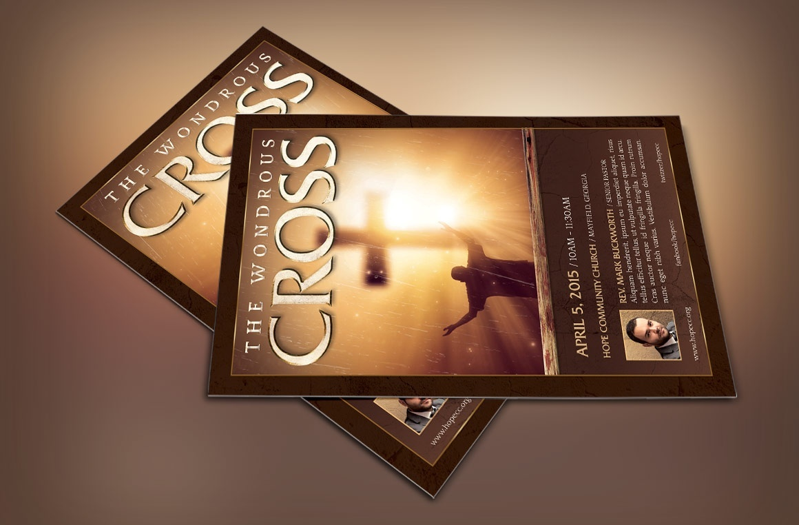 Wonderful Cross Flyer Template