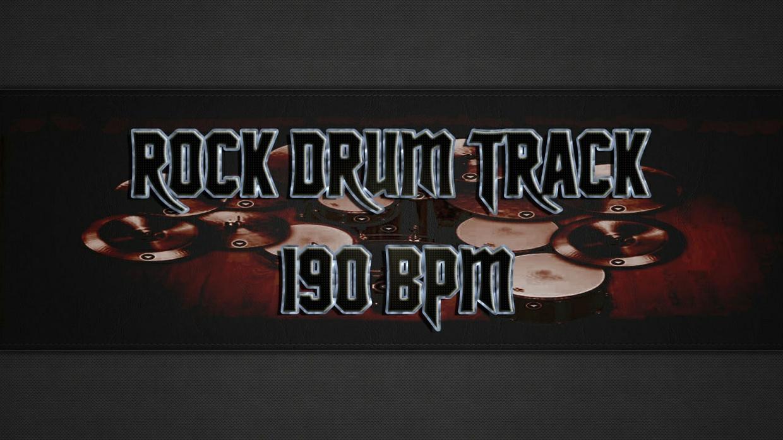 Rock Drum Track 190 BPM