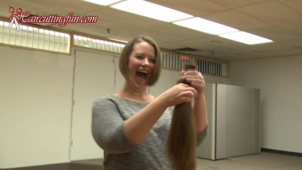 Emily's Long Hair to Inverted Bob Haircut - VOD, video on demand, digital video