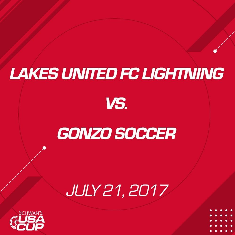 Girls U14 Silver - July 21, 2017 - Lakes United FC Lightning vs Gonzo Soccer