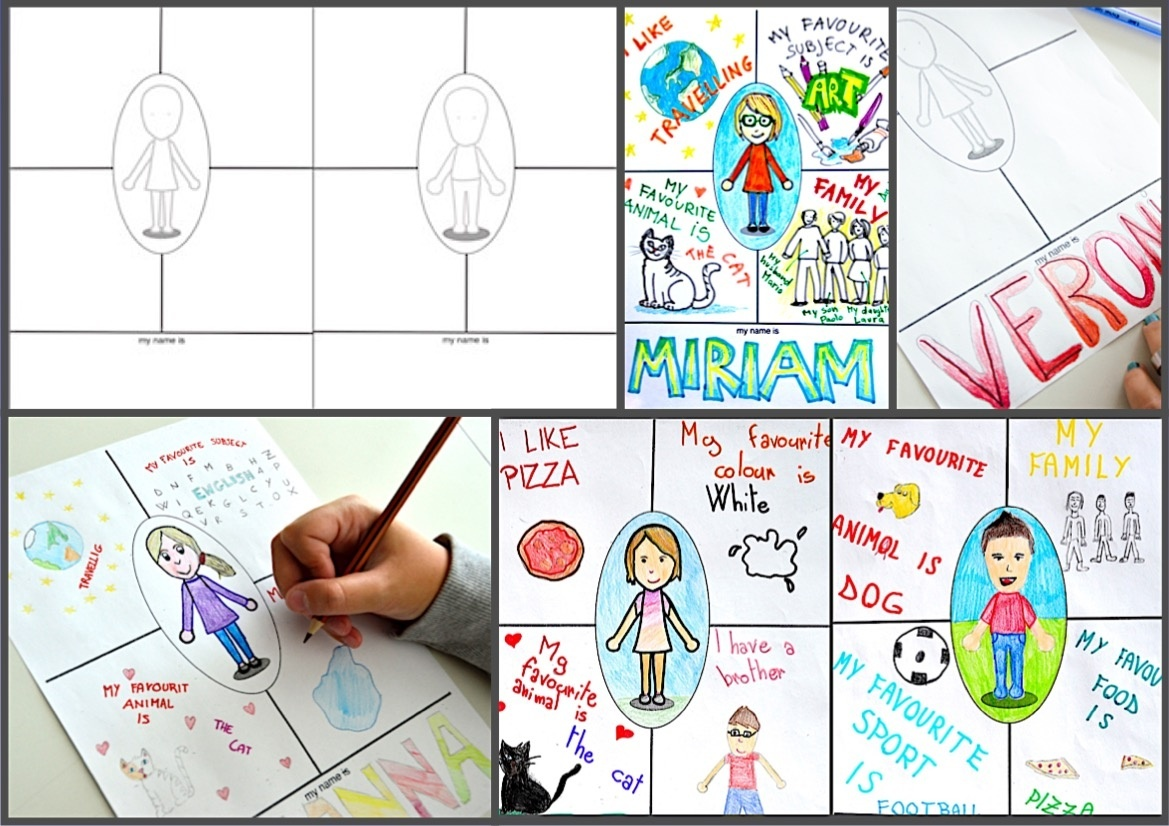 Drawing about me: worksheets