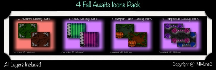 9 Fall Awaits Catalog Icons With Resell Rights