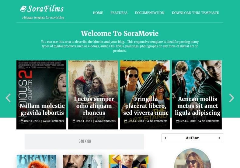 Sora Films Blogger Template Premium Version