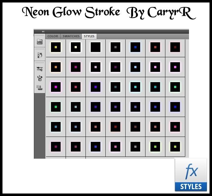 Neon Glow Stroke  Style  By CaryrR