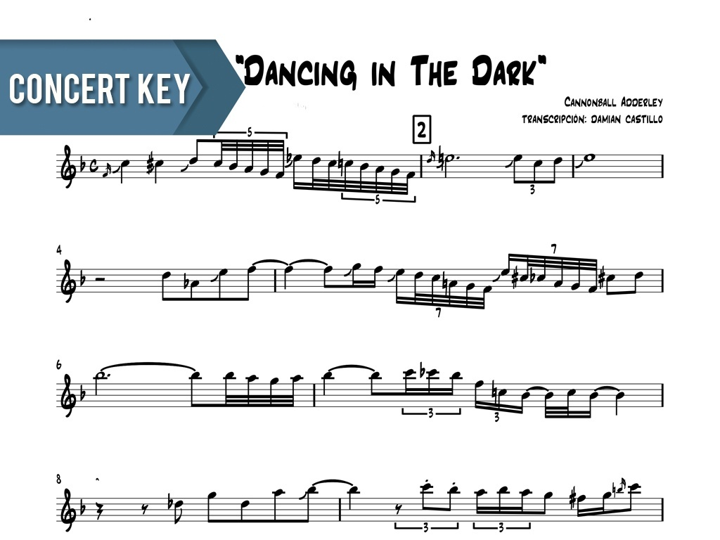 """Cannonball Adderely - """"Dancing In The Dark"""" - Concert Key"""