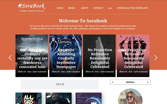 Sora Book Blogger Template Premium Version
