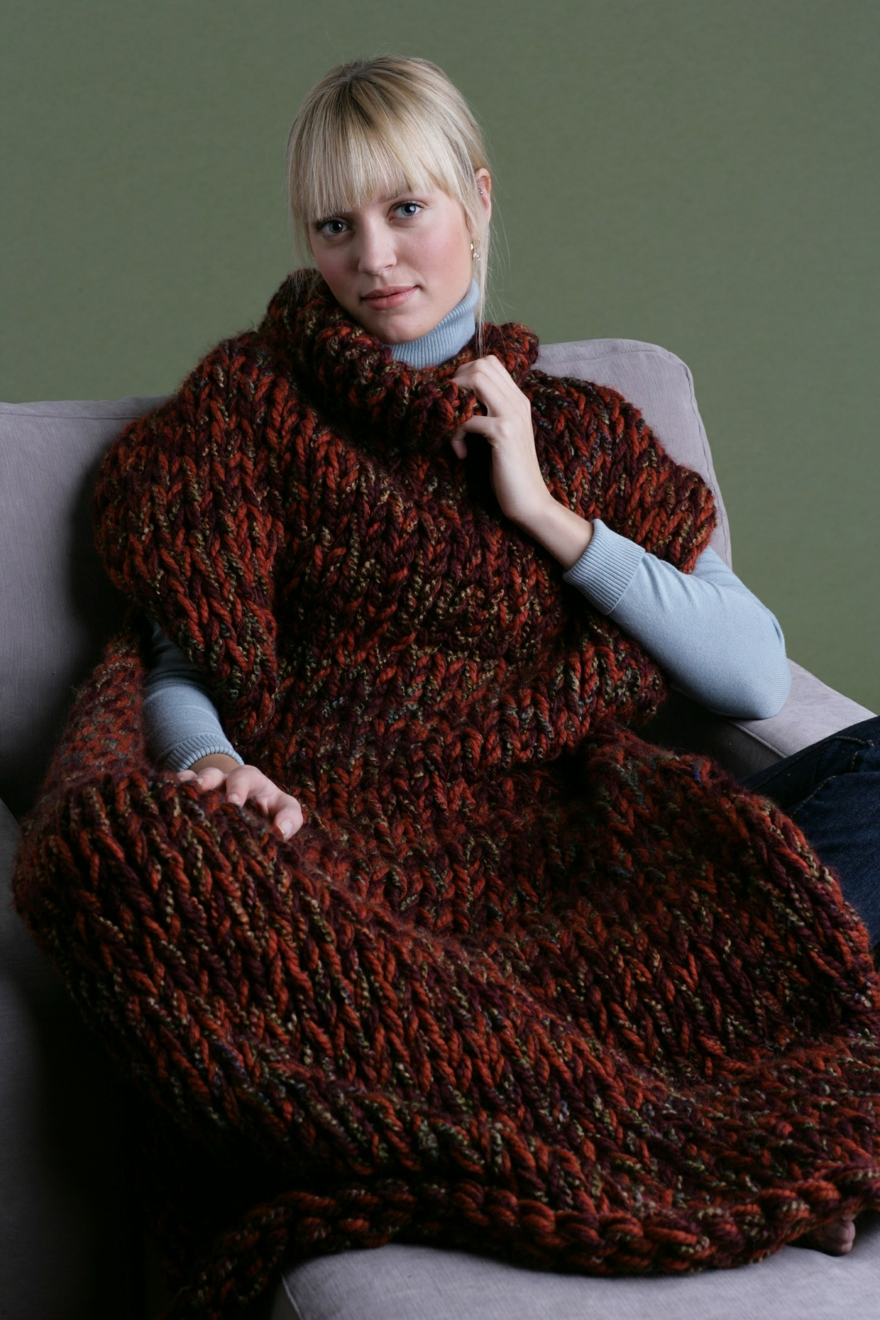 Knit Sweater Blanket