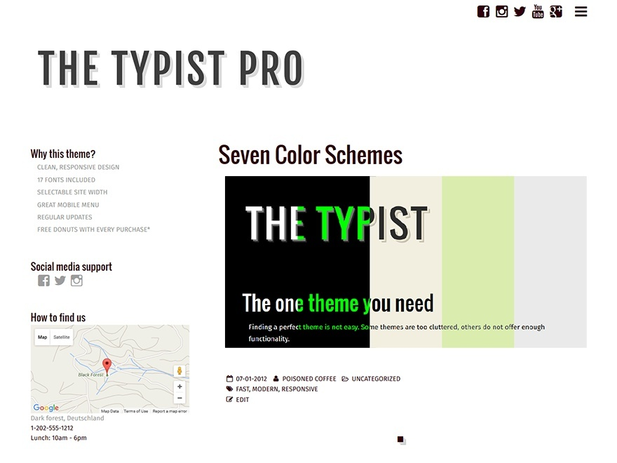 Typist Pro WordPress theme