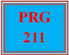 PRG 211 Week 2 Supporting Activity: Programming Basics