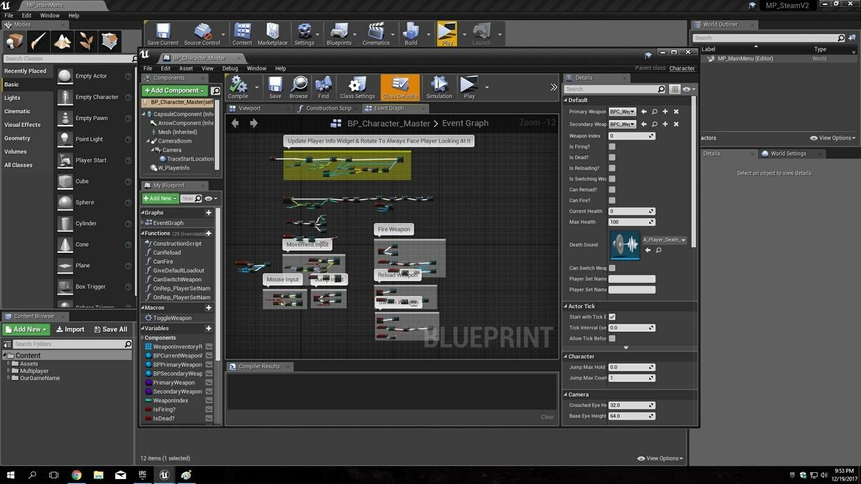 UE4 MP Steam TPS Tutorial Series 1