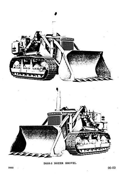 Komatsu Crawler Dozers  D55S-3 sn:2008 and up Workshop Service Manual