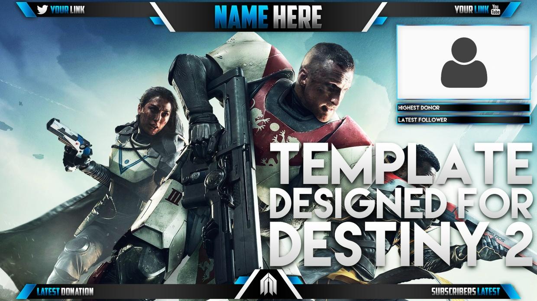 Live Stream Overlay Template Pack - Destiny 2 - Photoshop Template - Volume 9