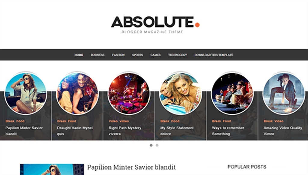 Absolute Blogger Template Premium Version